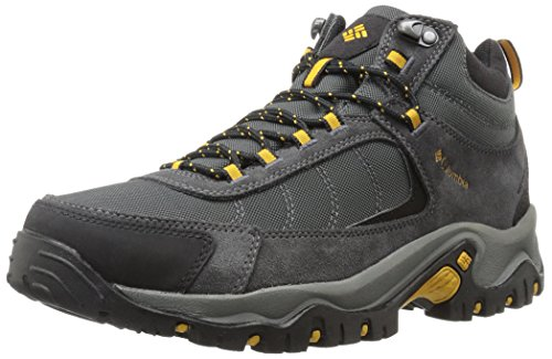 Columbia Men's Granite Ridge MID Waterproof Hiking Shoe, Dark Grey, Golden Yellow, 11.5 D US