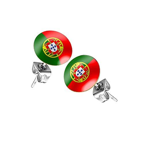 Taffstyle Fanartikel Ohrringe für Fußball WM & EM - Portugal