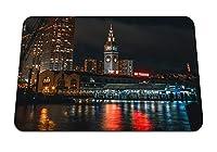 22cmx18cm マウスパッド (夜市ポートビーチサンフランシスコアメリカ合衆国) パターンカスタムの マウスパッド