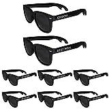 Groomsmen Bottle Opener Sunglasses 8 Pack, Wedding Sunglasses, Bachelor Party Supplies for Groom, Best Man, Groomsman