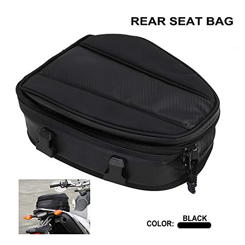 AnXin Motorcycle Tail Bag Saddlebags Waterproof Backpack Luggage Bag Rear Seat Bag Multifunctional PU Leather Saddle Bags Sport Bag - 15 Liters