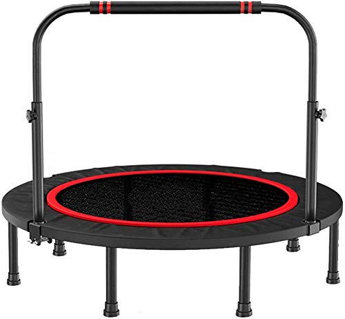 40 Exercise Trampoline with Height Adjustable Handle Small Gym Trampoline for Indoor Fitness Foldable Bungee Rebounder Trainer Workout for Adults Uptodate