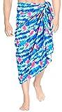 LA LEELA Men's Plus Size Sarong Swimsuit Cover Up Beach Wear One Size Blue_Q46