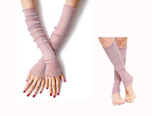 Senmir Damen Armstulpen - Damen Stulpen Armstulpen aus Spitze - Sommer Fingerlos Handschuh Eis Seide Armschützer Sonnenschutz