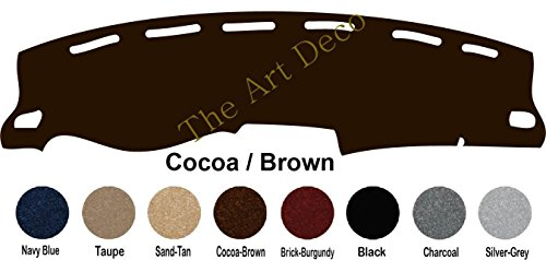 The ArtDeco Custom Made Carpet Dash Cover Fits for Nissan Frontier Dash Cover Mat Pad Fits ; (2002-2004, Cocoa-Brown)