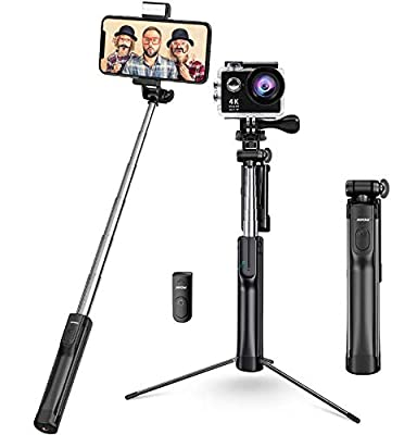 Mpow Selfie Stick Tripod, All in 1 Portable Extendable Selfie Stick with Bluetooth Remote & Fill Light from Mpow