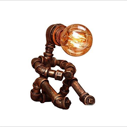 Alik'S Vintage-lamp, slang, metaal, ongeslepen, industriële stijl, rustiek design, origineel licht, kantoor, huis, wandlamp, lampenkap, verlichting