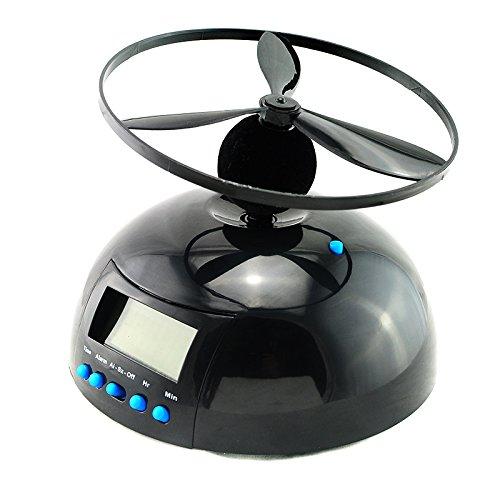 Funwill Fliegender Wecker Crazy Hubschrauber Neuheit Digital LED Wecker UFO
