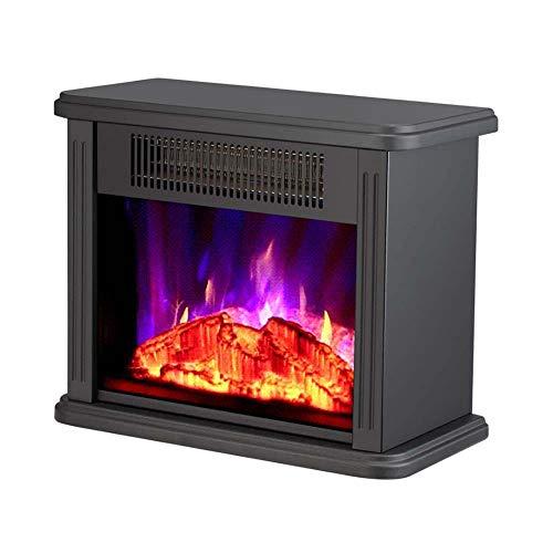1500W freistehend Kamin Modern Electric Fires realistisches Flammenbild und Real Logs inbegriffen/Schwarz Für Wohnzimmer Schlafzimmer
