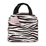 shenguang Metro Living Zebra Schokoladenblume Lunchpakete, große isolierte Lunchbox, gefrierbare Mittagstasche für die Arbeit, wiederverwendbare Kühltasche für Erwachsene, faltbare Tasche zu