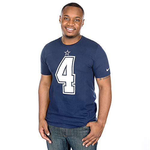 NFL Football T-Shirt Dallas Cowboys Dak Prescott #4 Trikot Jersey Receiver (XXL)