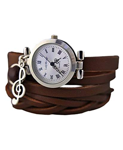BESTSELLER Symphony - Echtleder Armbanduhr - Braun - Edelstein - Achat - Silber - Geschenk für Sie - Tolle Geschenkidee - Weihnachtsgeschenk - Geburtstagsgeschenk