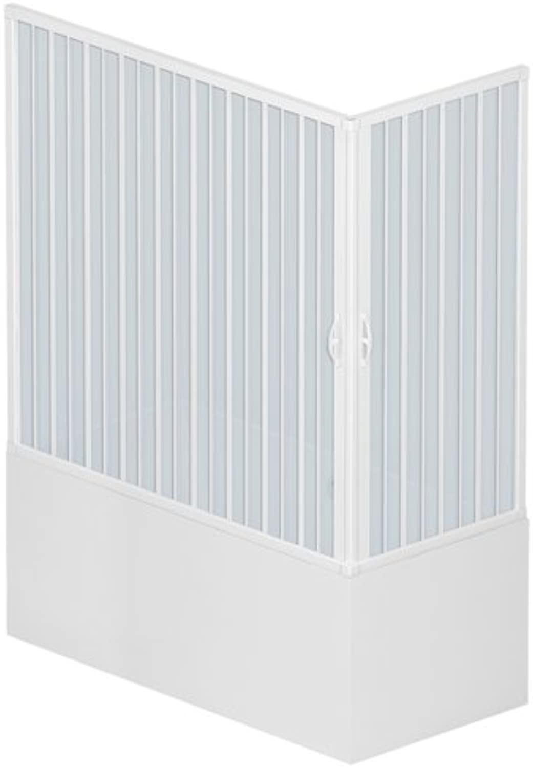 Roll Plastic BGAL1CONCC28150?760?mm Wetroom Shower Enclosure Size  70?x 150?cm x h 150?cm PVC Plastic 2?Wing Opening on the Corner?–?White