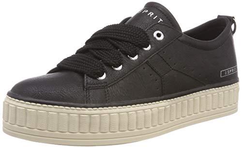 ESPRIT Damen Starlet LU Sneaker, Schwarz (Black 001), 40 EU
