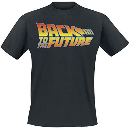 Zurück in die Zukunft Logo Männer T-Shirt schwarz 3XL 100{974d9cd39ec216d52c08ece2a0ec9546675a1b8d923e111ccbcbe8608ef9e71d} Baumwolle Fan-Merch, Film, Nachhaltigkeit