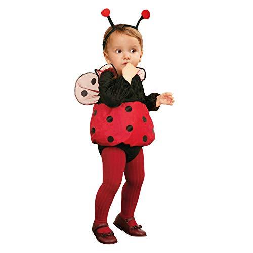 My Other Me–Costume da coccinella, taglia 0–6mesi (Viving Costumes MOM01308) Animali 7-12 meses