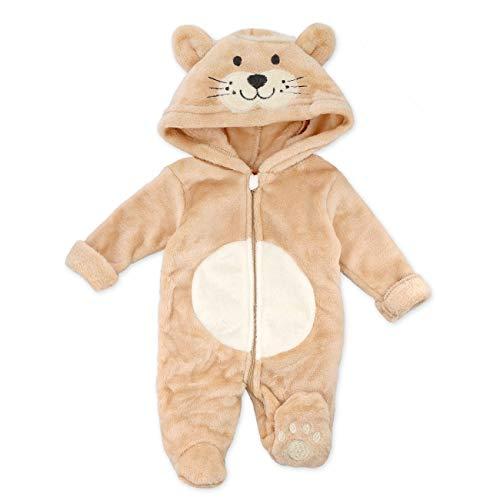 Cheeky Chimp - Mono para bebé, diseño de león, con capucha para recién nacidos y niños pequeños, talla: Talla:0-3 Monate (62)