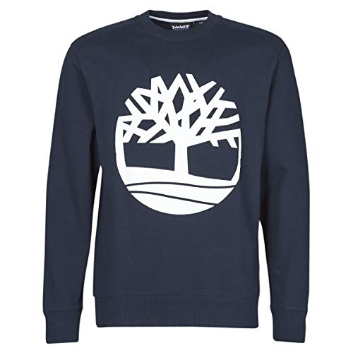 Timberland Core Logo Tree Crew Sweat (Loopback) Sweatshirts Und Fleecejacken Herren Marine/Weiss - XXL - Sweatshirts Sweater