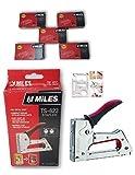 KROST Kangaro Miles Metal Body Ts-623 Staple Gun Tacker With 5000 Staples (Medium, Red)