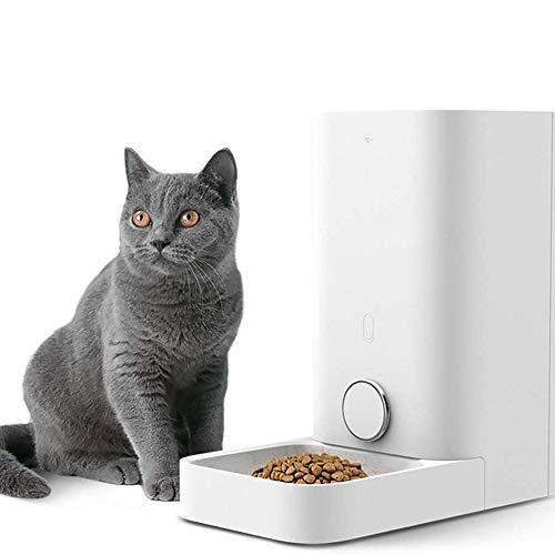 DGSD Alimentador Automático para Gatos, Alimentador Inteligente del Sistema, Dispensador De Comida para Gatos, Alimentador Automático para Mascotas con Wi-Fi
