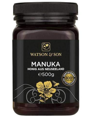 Watson & Son Manuka Honig MGO 300+ 500g, zertifizierte Premium Qualität aus Neuseeland