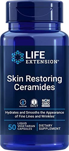 Life Extension Skin Restoring Ceramides, 50 Veg Capsules - Vegan Phytoceramide Supplement