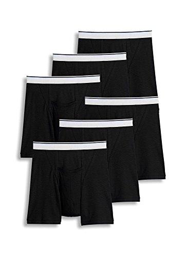 Jockey Men's Underwear Pouch Boxer Brief - 6 Pack, Black, L