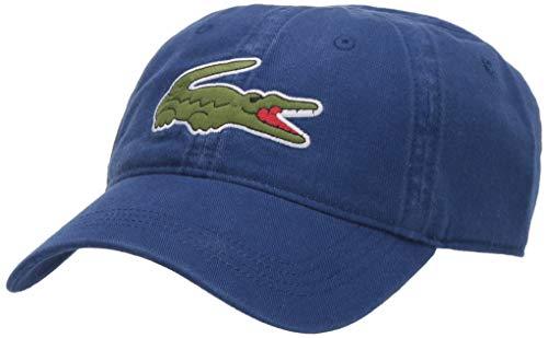Lacoste Mens Classic Big Croc Gabardine Cap Cap, Captain Blue, One Size