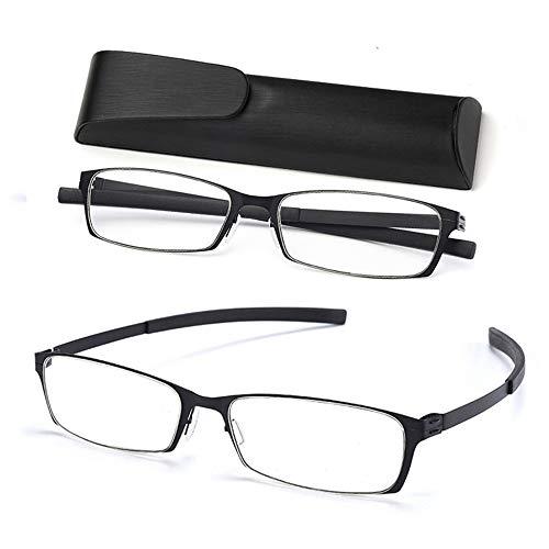 2-Pack Anti Luz Azul Gafas de Lectura, Plegables Gafas para Leer, Portátiles...