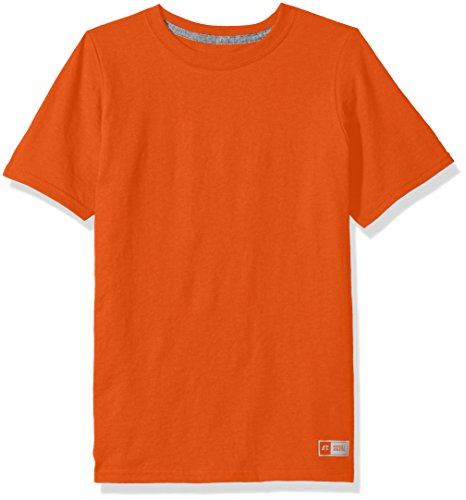Russell Athletic Boys' Big Performance Cotton Short Sleeve T-Shirt, Burnt Orange, X-Large