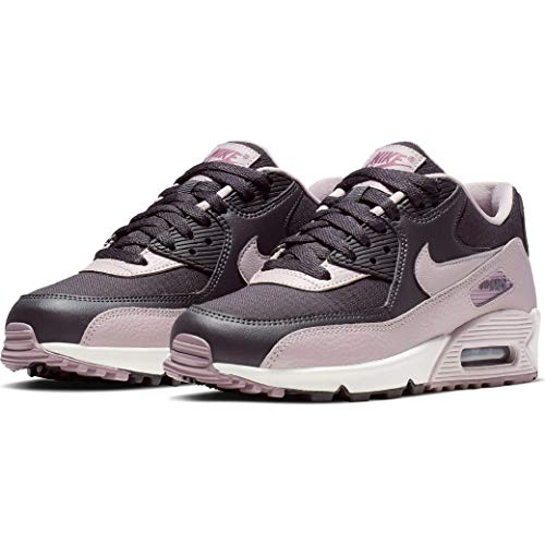 Nike Women's Air Max 90 Sneakers, Oil Grey/Plum Chalk-Plum Dust (US 9)