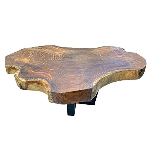 Couchtisch Wohnzimmertisch Natur Massiv ca. 119 cm Wurzelholz Tisch Suar Holz