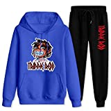 T-r-ippie R-e-dd Kid Tracksuit Suits Hoodies and Sweatpants Fashion Sports Set Two-Piece Casual Outfits for Men Women Blue and Black Women-XL/Men-L