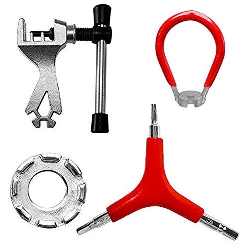 Fahrrad Speichenschlüssel Set, Asudaro Universal Fahrrad Stahl Speichen Schlüssel Fahrrad Speichen Werkzeug, Mini, Einstellung Speichen Werkzeug zur Reparatur von MTB-Fahrradspeichen