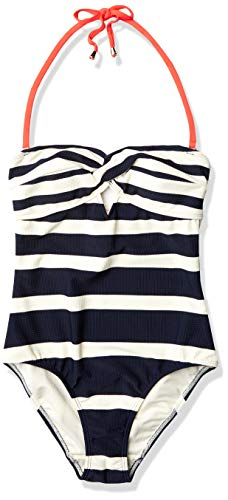 Ted Baker Women's Cirana Navy White Stripe One Piece Swimsuit, 1