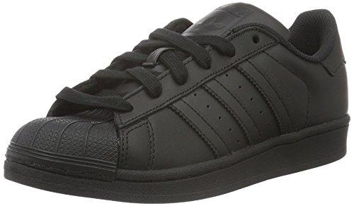 adidas Originals Unisex Adults' Superstar Low-Top Sneakers, Black (Core Black/Core Black/Core Black), 4 UK