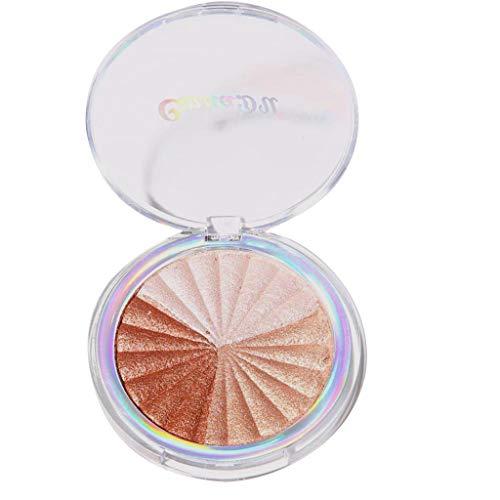 Shimmer Compact Highlighting Shimmering Powder - palette de poudre de surligneur de visage illumine la couleur de peau de longue durée Imperméable à l'eau Serria