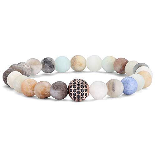 Bracelet Charm Natural Stone Pearl Men'S Bracelet Punk Cz Bracelet Men'S Fashion Bracelet Gift As1194
