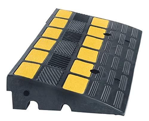 UvV Reflex UVBR6010 Bordstein-Rampe Gummi LxB 600x300 schwarz gelb reflektierend 40t (60x30x10 cm)