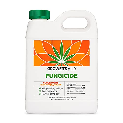 Grower's Ally Fungicide   32 fl. oz. Concentrate, Makes 20 Gallons   Safe Fungicide and Bactericide for Plants   OMRI Listed