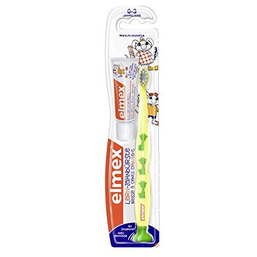 Elmex Lern-Zahnbürste mit elmex Kinder-Zahnpasta 12 ml, 0-3 Jahre, sortiert, 6er Pack (6 x 1 Set)