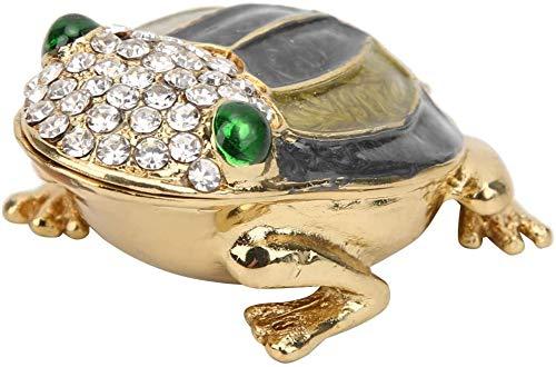 Schmuck schachtel, Diamant eingelegte Emaille Frosch Sammler Figur Schmuck Ringe Halskette Ohrringe Halter für Valentinstag Geburtstag Geschenk(Grau)
