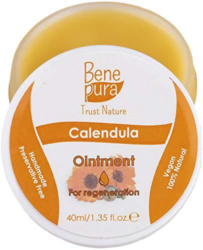 Calendula natürliche Salbe 40 ml - kalter Ölextrakt - 100% natürlich - heilt Wunden, Blutergüsse, Verbrennungen - reines natürliches Konzentrat - handgemacht in der EU