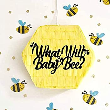 Gender Reveal Pull String Pinata What Will Baby Bee