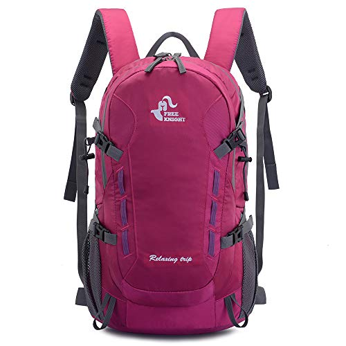 40L Lightweight Daypack Cycling Hiking Water Resistant Travel Backpack (Rose)