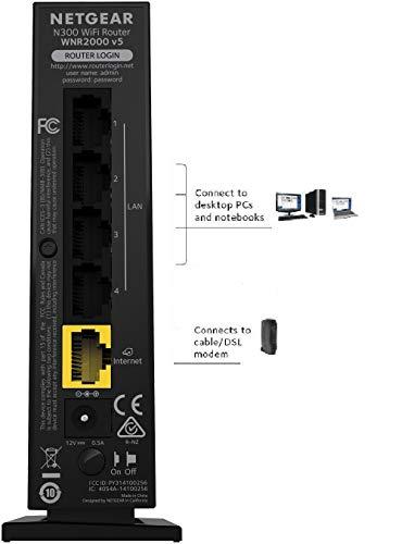 Netgear WNR2000 N300 WLAN Router (300 MBit/s, 4x LAN Fast Ethernet Ports, WPA/WPA2 , Kinderschutz & Gastnetzwerk)