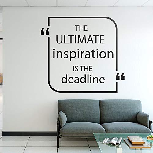 De laatste inspiratie is de deadline vinyl art muursticker kantoorbenodigdheden logo typografie typografie verwijderbaar behang 46x42cm