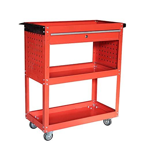 LiChaoWen Carritos de Servicio Carro de la Herramienta Carro con cajón Piezas Carrito Movible Mueble Metal Gabinete de Metal (Color : Red, Size : 70x35x66cm)