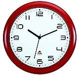 ALBA LAUTLOSE Uhr, Rot, 30 cm