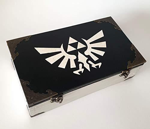 Legend of Zelda Logo, Exklusive Teebox,Tee, Tea, Teebeutel,Teekiste, wood